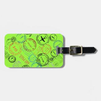 O passaporte carimba Tag da bagagem Etiqueta De Bagagem