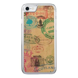O passaporte do vintage carimba capas de iphone da
