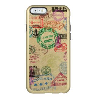 O passaporte do vintage carimba capas de iphone do capa incipio feather® shine para iPhone 6
