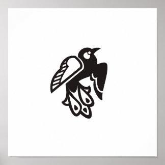 O pássaro Deco escolhe 10/10 (o preto) Poster