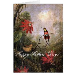 O pássaro do colibri de Heade floresce o cartão do