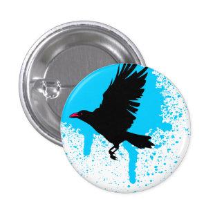 O pássaro voou o botão bóton redondo 2.54cm