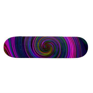 O Pastel final roda plataforma do skate