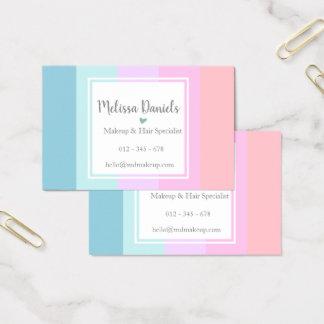 O Pastel listra cartões de visitas