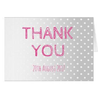 O Pastel pontilha cartões de agradecimentos do