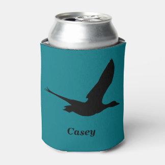 O pato do vôo que caça temático personalizado pode porta-lata