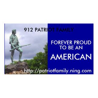 O patriota americano, FAMÍLIA de 912 PATRIOTAS, Cartão De Visita