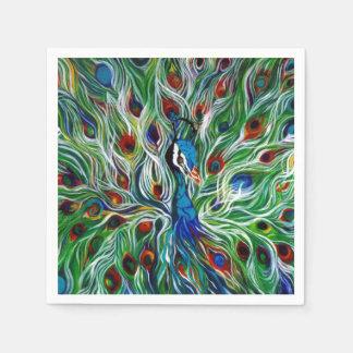 O pavão empluma-se guardanapo do desenhista