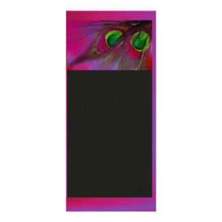 O pavão psicadélico de PixDezines, personaliza-o! 10.16 X 22.86cm Panfleto