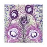 O pavão roxo bonito empluma-se o design elegante impressão em tela canvas
