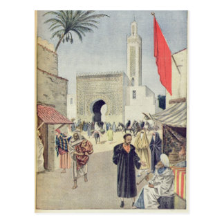 O pavilhão marroquino na exposição universal cartões postais