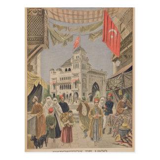 O pavilhão turco no universal cartões postais