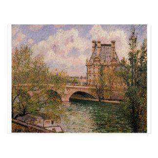 O Pavillion de Flore e o Pont real Cartão Postal
