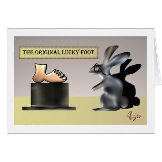 O pé afortunado por Anjo Lafin Cartão Comemorativo