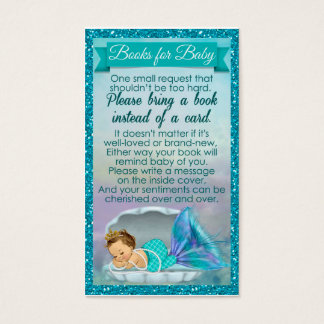 O pedido do livro do bebê da sereia introduz o chá cartão de visitas