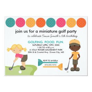 O pedido especial do mini golfe convida convite 12.7 x 17.78cm