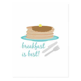 O pequeno almoço é o melhor cartoes postais