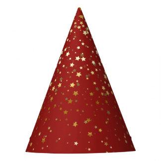 O pequeno ouro Stars o vermelho do chapéu do