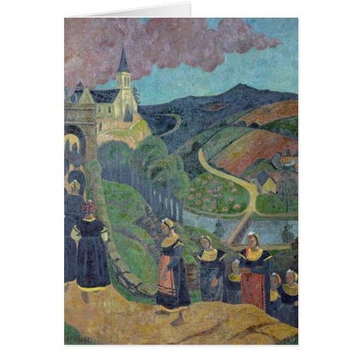 O perdão de Notre-Dama-DES-Portes em Cartoes