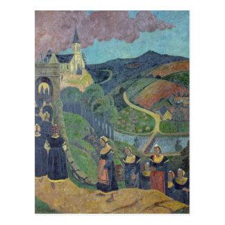O perdão de Notre-Dama-DES-Portes em Cartão Postal