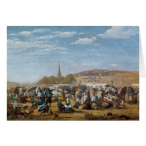 O perdão do Sainte-Anne-La-Palud, Brittany Cartão