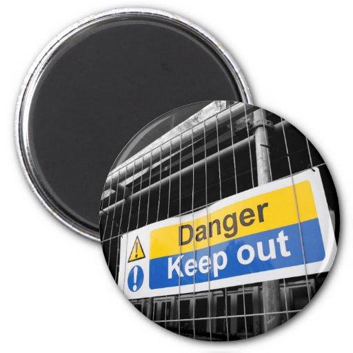 O perigo mantem para fora o ímã do sinal imã de refrigerador