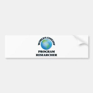 O pesquisador o mais fresco do programa do mundo adesivos