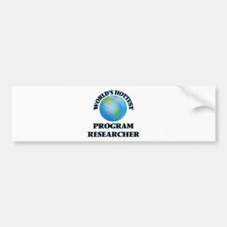 O pesquisador o mais quente do programa do mundo adesivos