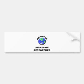 O pesquisador o mais quente do programa do mundo adesivo