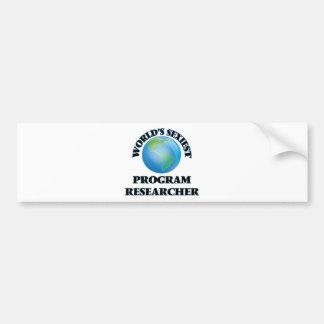 """O pesquisador o mais """"sexy"""" do programa do mundo adesivos"""