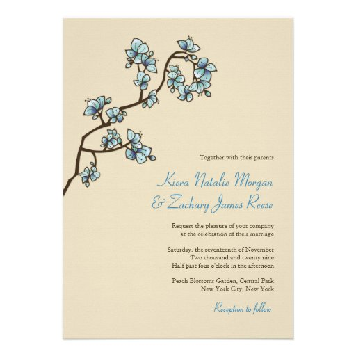 o pêssego azul do fatfatin floresce convite do cas