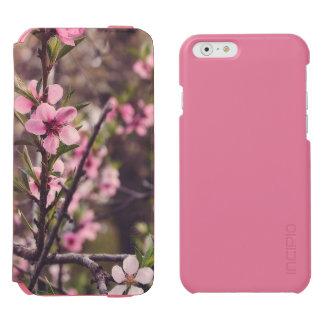 O pêssego floresce caixa da carteira do iPhone Capa Carteira Incipio Watson™ Para iPhone 6