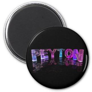 O Peyton conhecido em 3D ilumina-se (a fotografia) Ímã Redondo 5.08cm
