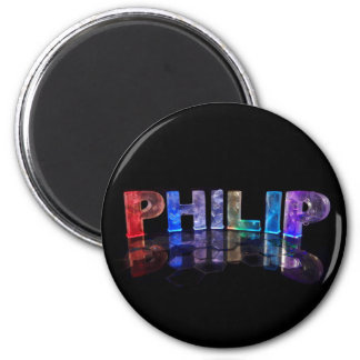 O Philip conhecido nas luzes 3D fotografia Imã