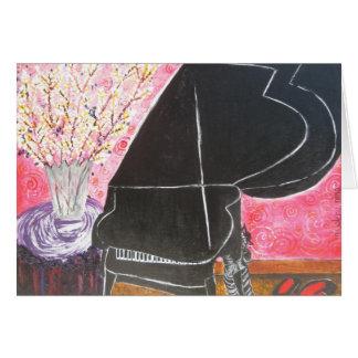 O piano cartão comemorativo