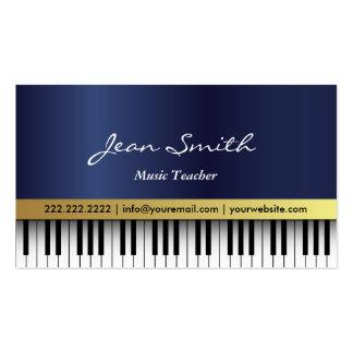 O piano dos azuis marinhos do professor de música cartão de visita