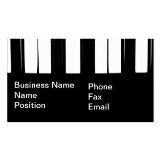 O piano fecha o cartão de visita