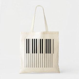 O piano fecha o marfim branco e preto bolsa tote