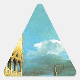 O Piazzet que olha sul por Canaletto Adesivo Triangular