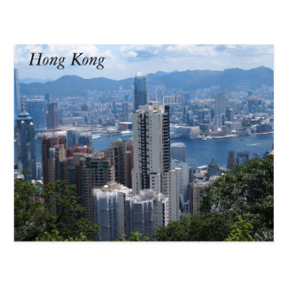 O pico de Victoria no cartão de Hong Kong