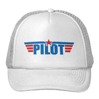 O piloto voa o crachá - aviação boné