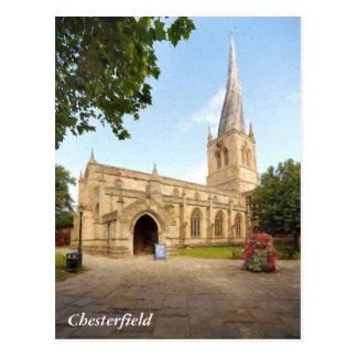 O pináculo curvado de Chesterfield Cartão Postal