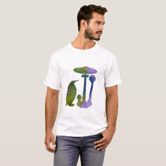 O pinguim e o cogumelo camiseta