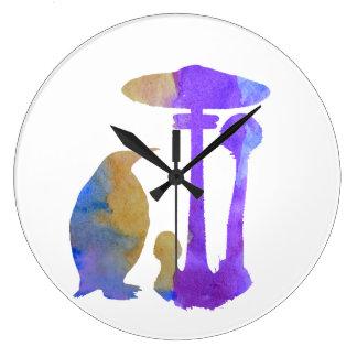 O pinguim e o cogumelo relógios de paredes