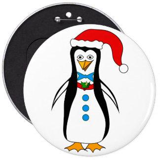O pinguim no inverno Togs o botão colossal Bóton Redondo 15.24cm