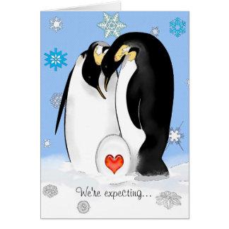 O pinguim Parents o convite do chá de fraldas