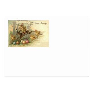 O pintinho do coelhinho da Páscoa coloriu a bandei Modelo Cartoes De Visita