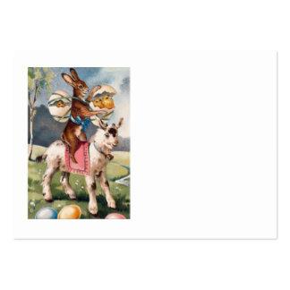 O pintinho do coelhinho da Páscoa coloriu a cabra  Cartão De Visita Grande