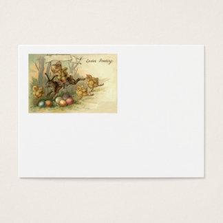 O pintinho do coelhinho da Páscoa coloriu a Cartão De Visitas