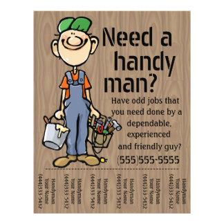 O pintor do canalizador do trabalhador manual do panfleto
